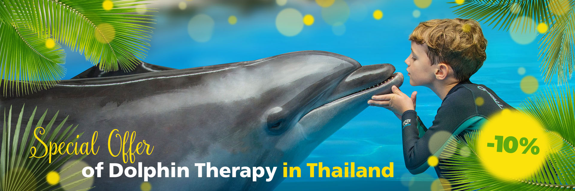 Special offer to the opening of Dolphin therapy in Thailand, photo