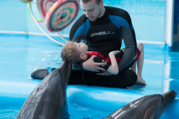 Dolphin therapy in Theodosia all year round, photo on the website therapynemo
