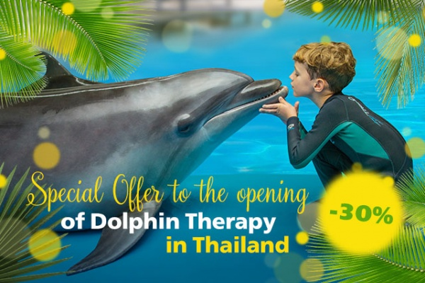 Special offer to the opening of Dolphin therapy in Thailand, photo on the website therapynemo